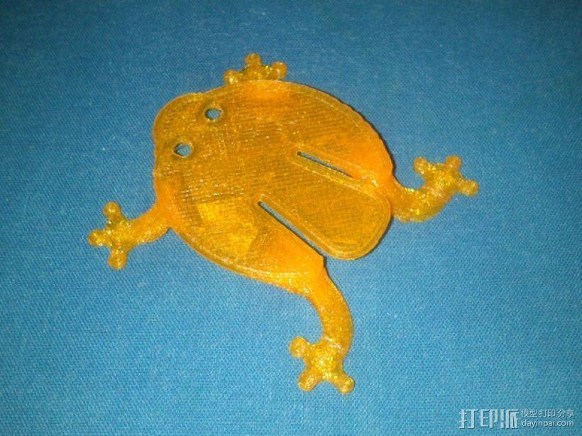 扁平的弹跳蛙 3D模型  图1