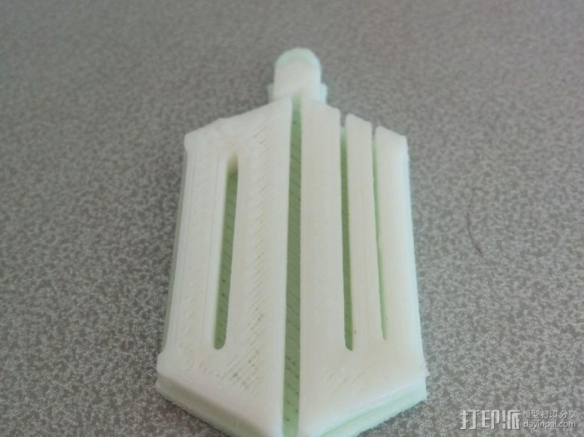 神秘博士钥匙扣 3D模型  图1