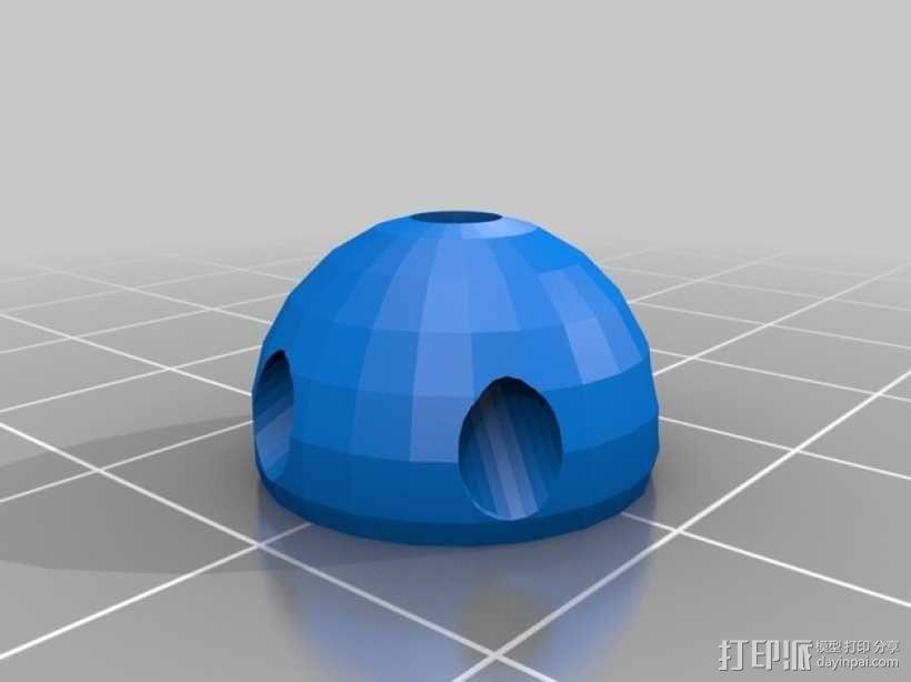 牙签制成的圆顶结构 3D模型  图2
