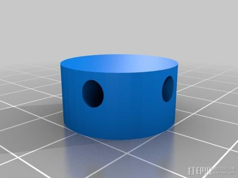 牙签制成的圆顶结构 3D模型  图3
