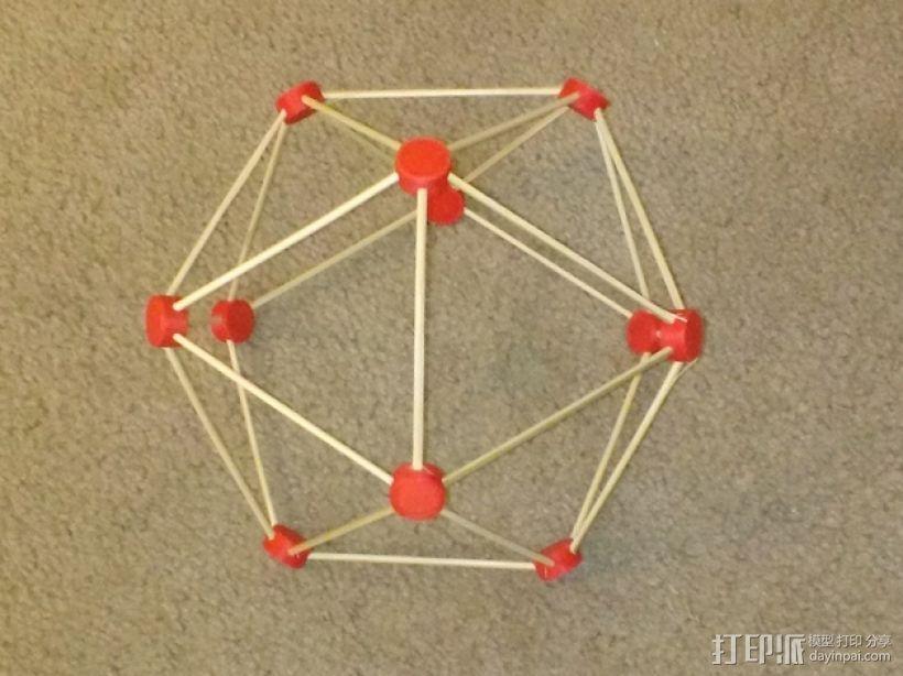 牙签制成的圆顶结构 3D模型  图1