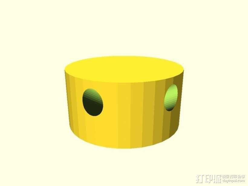 牙签制成的圆顶结构 3D模型  图4