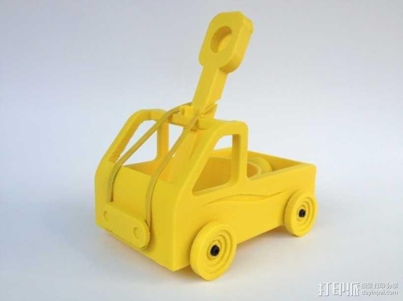 车形弹射器 3D模型  图1