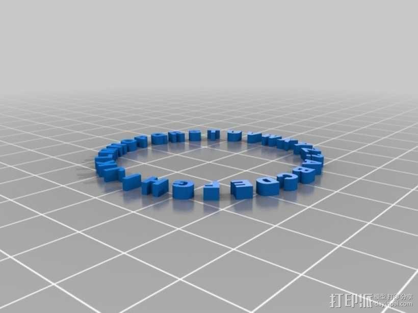 圆形解码器吊坠 3D模型  图4