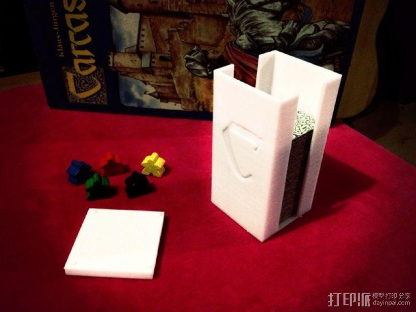 卡卡颂卡片收纳盒 3D模型  图2
