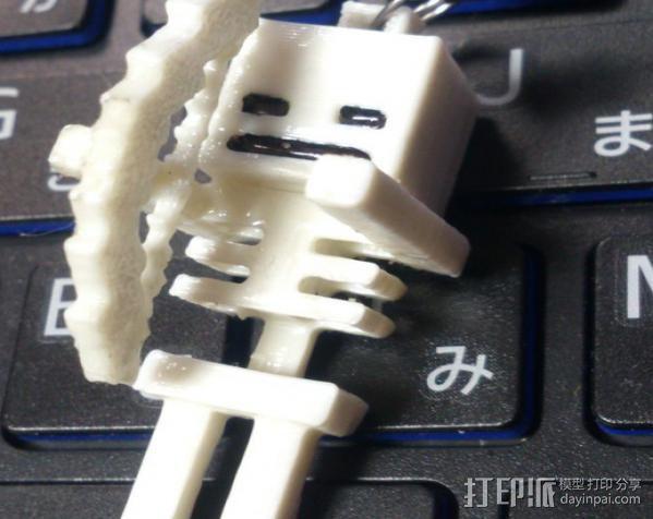 Minecraft骨架玩偶 3D模型  图1