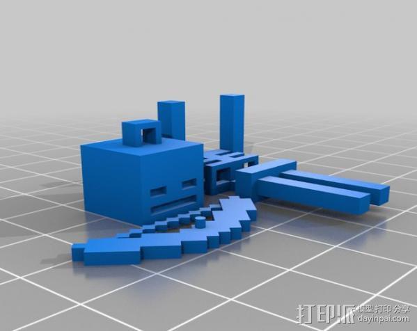 Minecraft骨架玩偶 3D模型  图2
