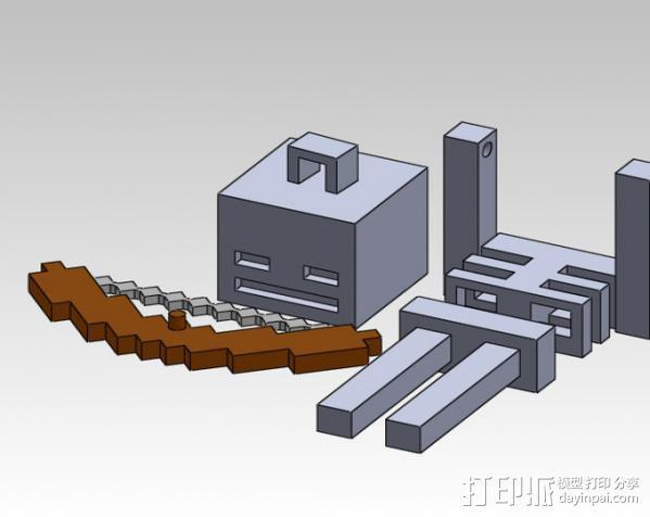 Minecraft骨架玩偶 3D模型  图5