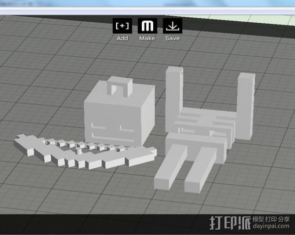 Minecraft骨架玩偶 3D模型  图3