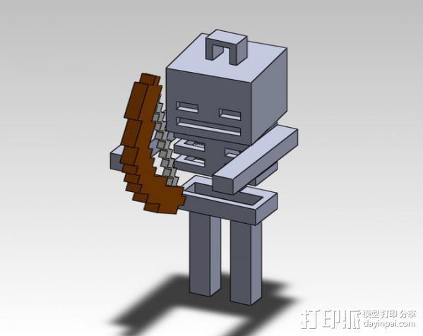 Minecraft骨架玩偶 3D模型  图6