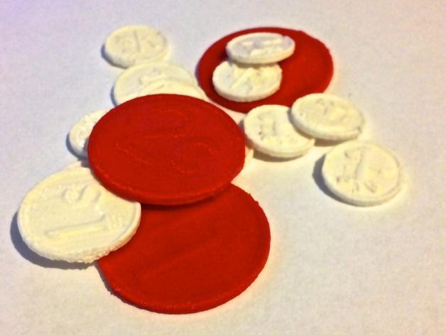 RPG游戏币 3D模型  图1
