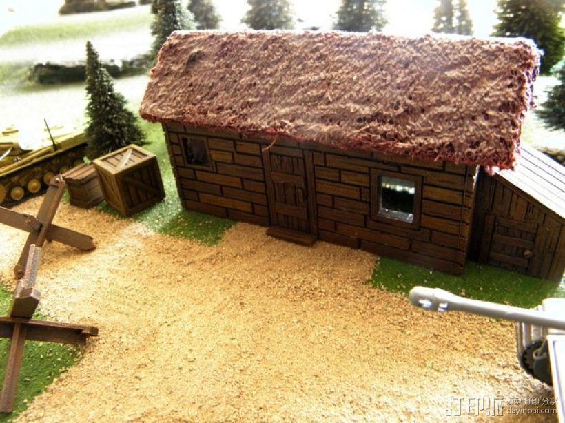 战争游戏:农舍 3D模型  图1