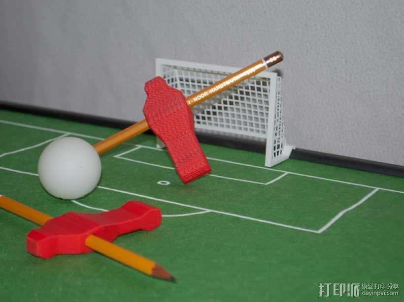 迷你足球场模型 3D模型  图1