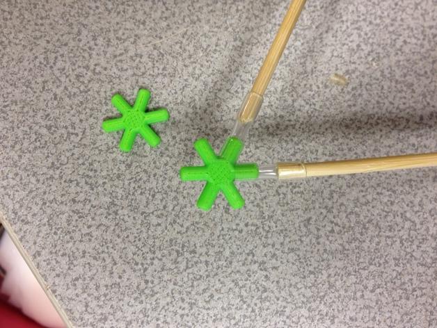 使用竹签制作而成的建筑模型 3D模型  图2