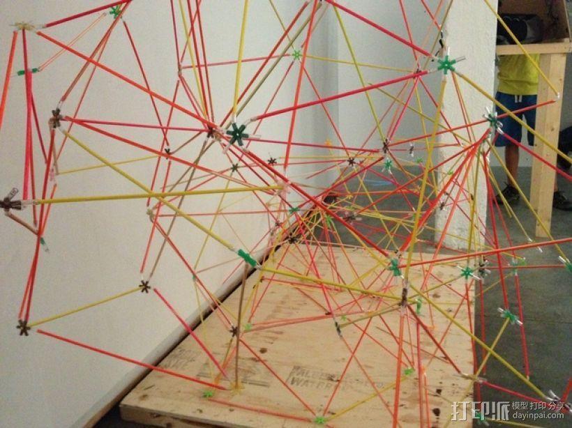 使用竹签制作而成的建筑模型 3D模型  图1