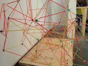 使用竹签制作而成的建筑模型 3D模型