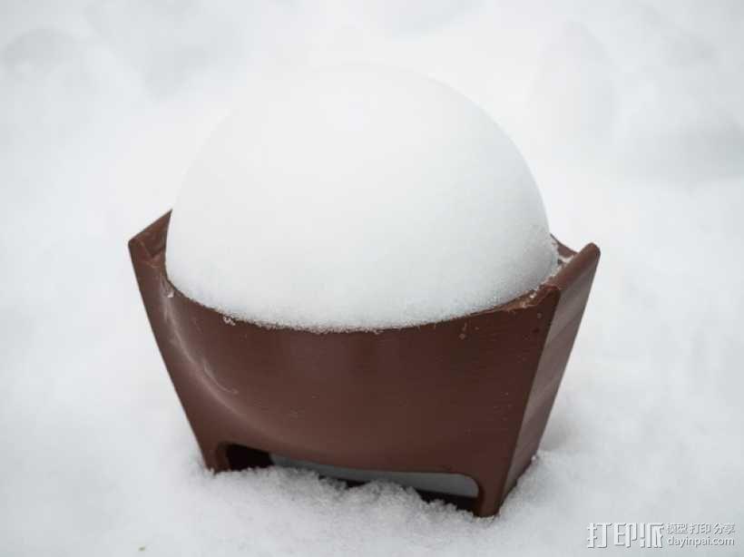 雪球模具 3D模型  图2