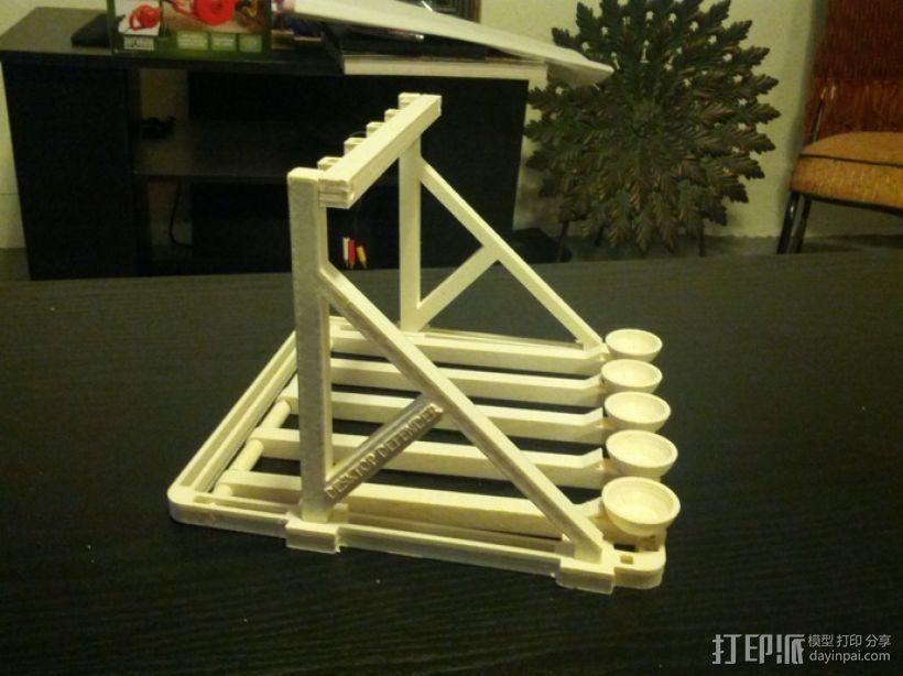 多发投石机模型 3D模型  图2