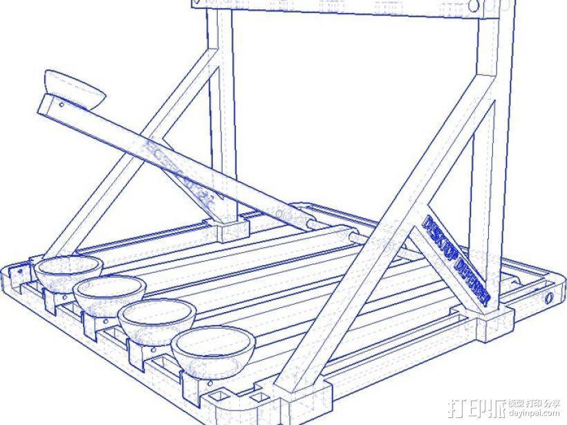多发投石机模型 3D模型  图13