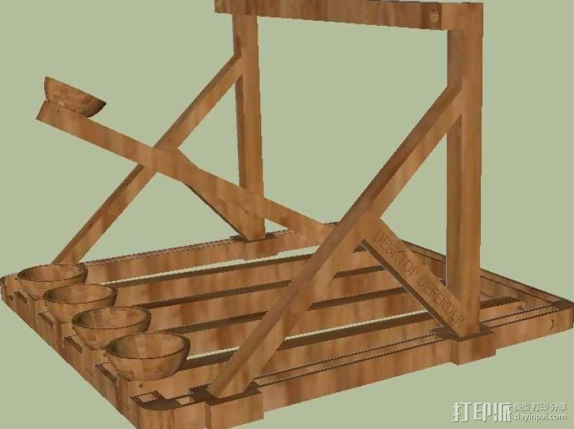多发投石机模型 3D模型  图14
