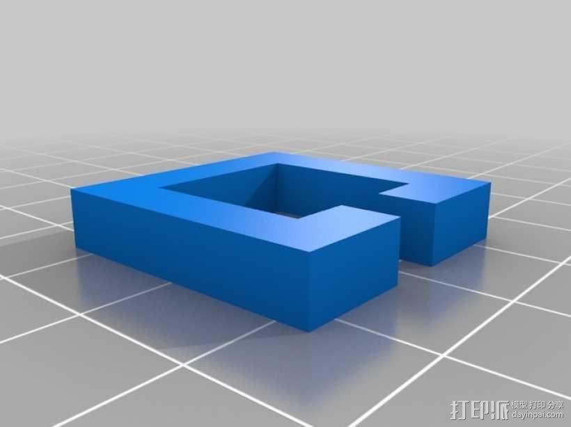 简易三面鲁班锁 3D模型  图2