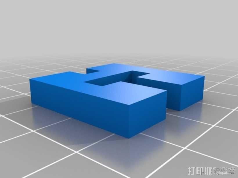 简易三面鲁班锁 3D模型  图3