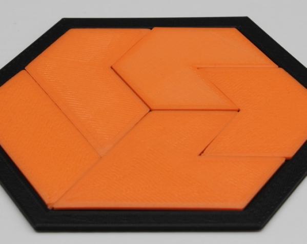 六边形拼图模型 3D模型  图2