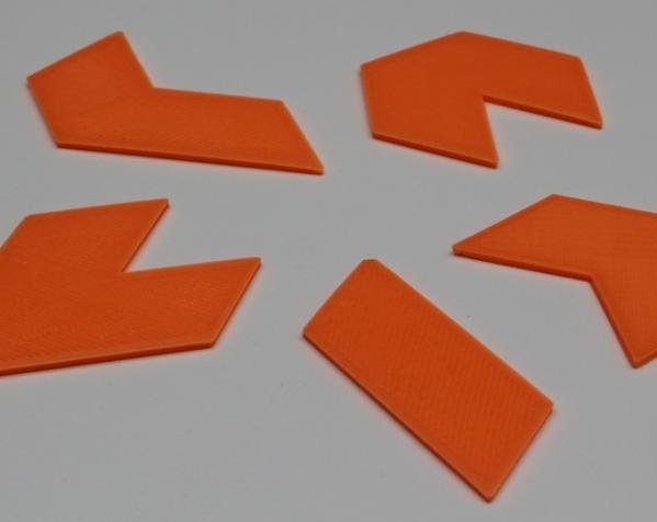 六边形拼图模型 3D模型  图4