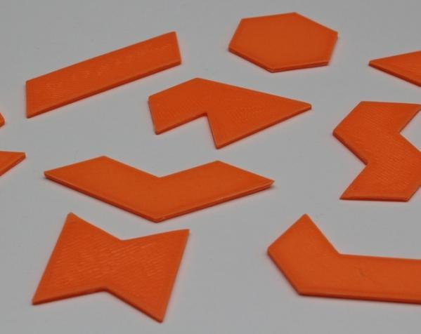 六边形拼图模型 3D模型  图3