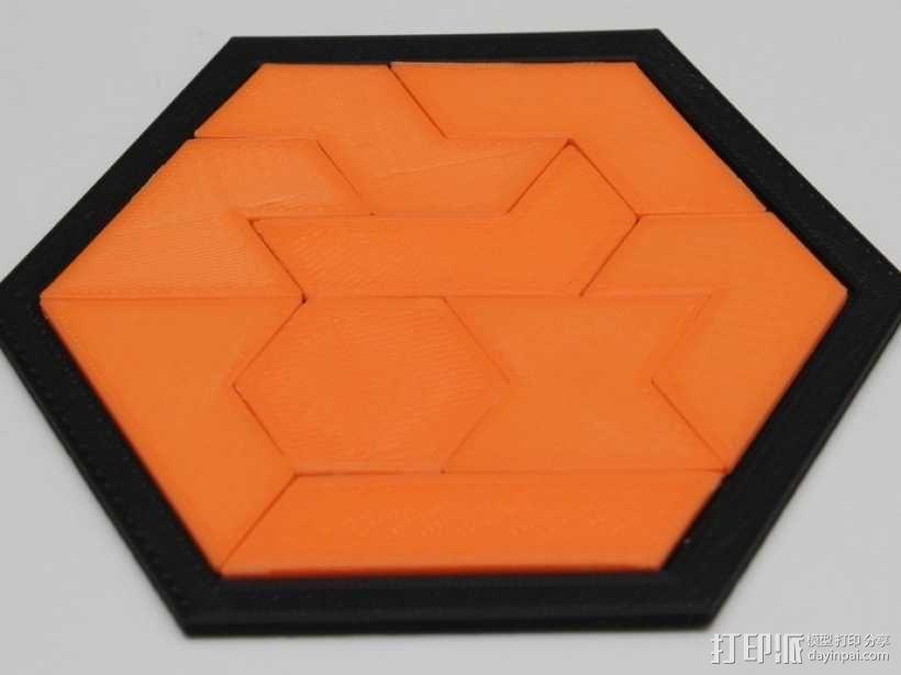 六边形拼图模型 3D模型  图1
