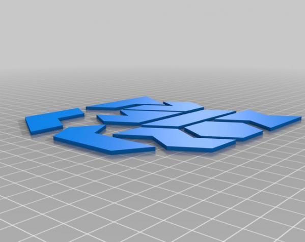 六边形拼图模型 3D模型  图6