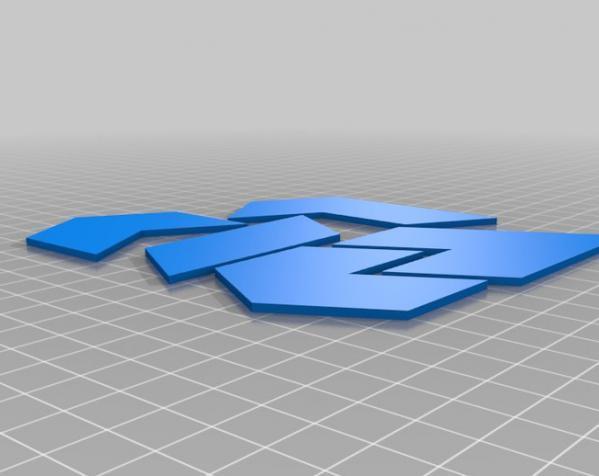 六边形拼图模型 3D模型  图7