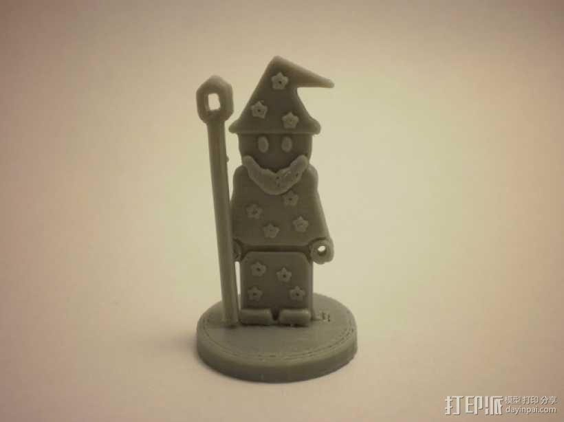 FlatMinis:巫师 3D模型  图1