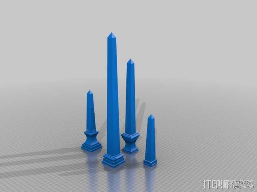 模块化的方尖塔 3D模型  图1