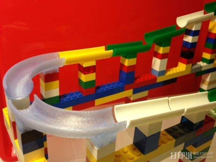 乐高滚珠轨道模型 3D模型  图1