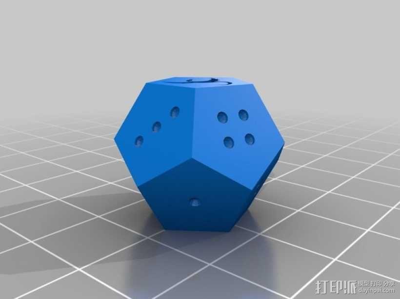 定制化的十二面骰子 3D模型  图2
