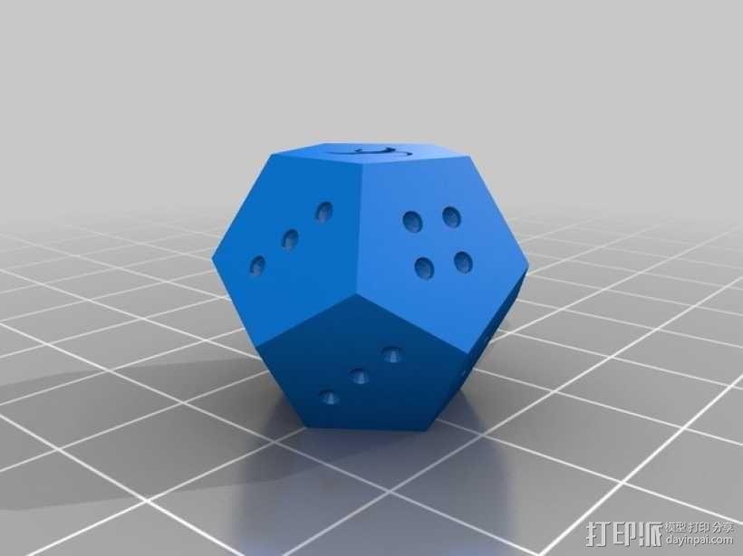 定制化的十二面骰子 3D模型  图4