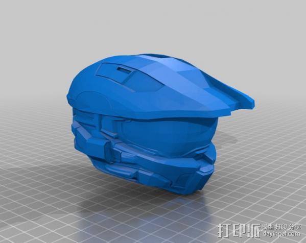 Halo头盔 3D模型  图1