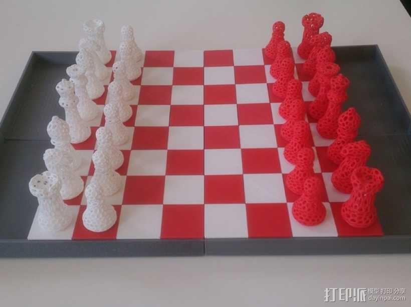迷你棋盘模型 3D模型  图1