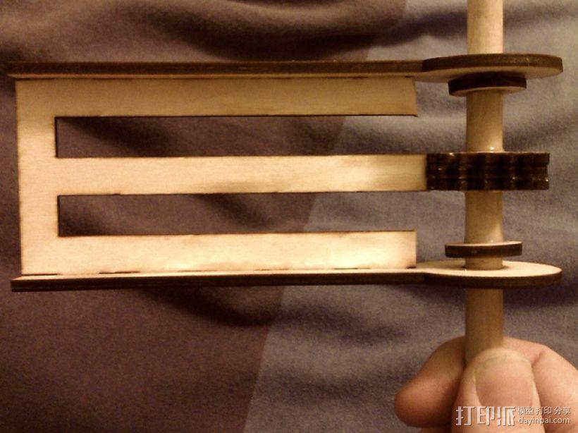 迷你棘轮模型 3D模型  图2