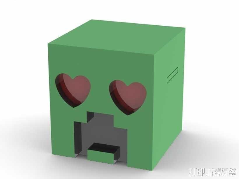 爬行者造型的情人节礼物盒 3D模型  图4