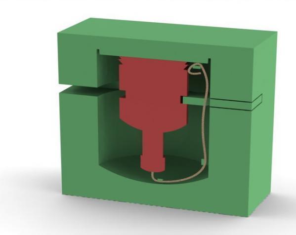 爬行者造型的情人节礼物盒 3D模型  图3