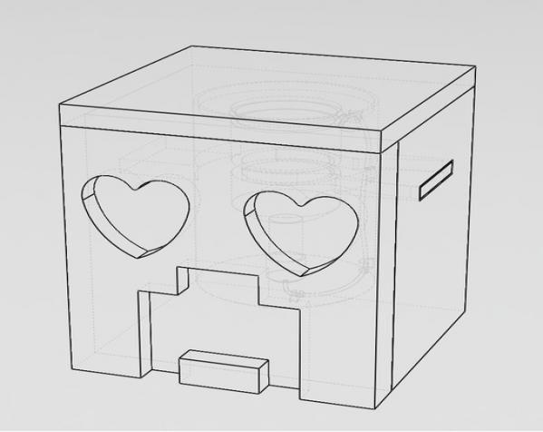 爬行者造型的情人节礼物盒 3D模型  图5