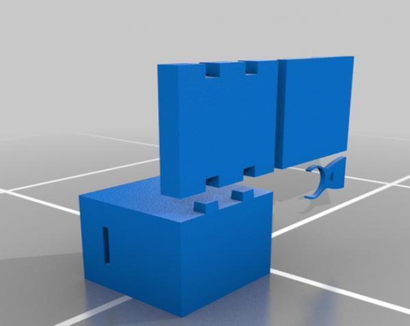 爬行者造型的情人节礼物盒 3D模型  图8