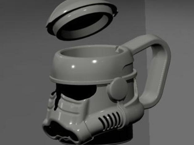 风暴骑兵马克杯 3D模型  图2