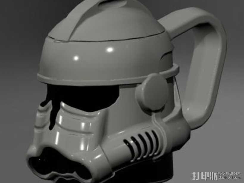 风暴骑兵马克杯 3D模型  图1