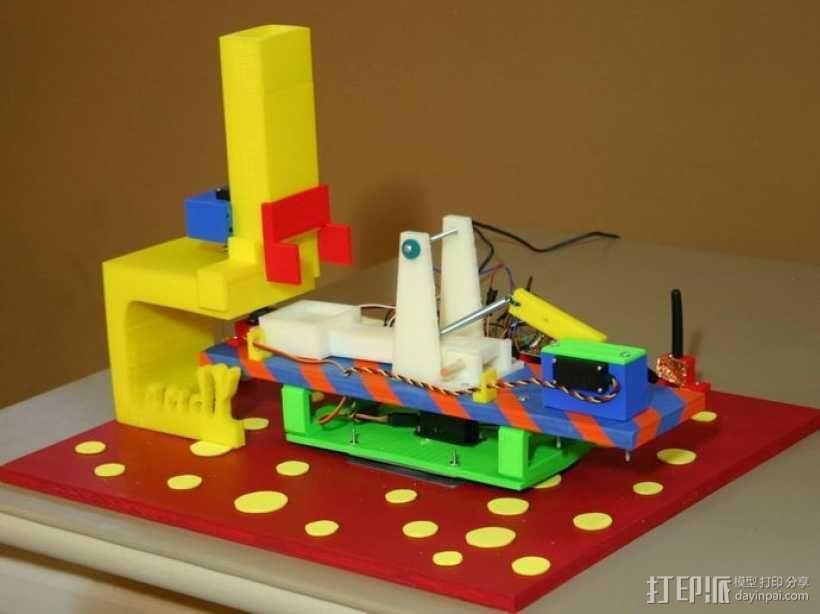 糖果弹射器模型 3D模型  图1