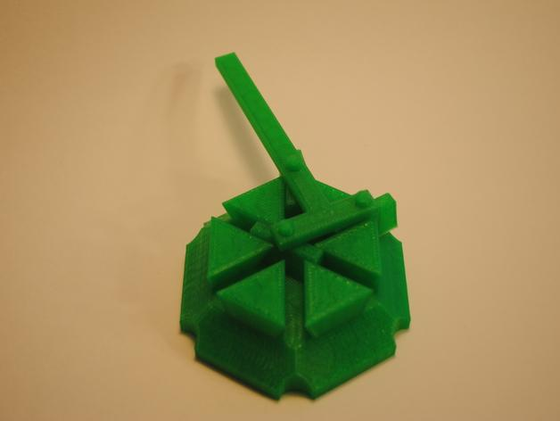 梁规旋转装置 3D模型  图3