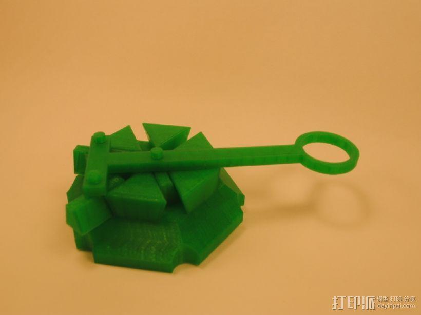 梁规旋转装置 3D模型  图1