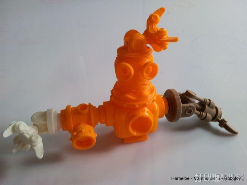 迷你机器人玩偶 3D模型  图1
